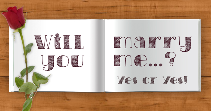 Marriage proposal idea - say it in a photo book!