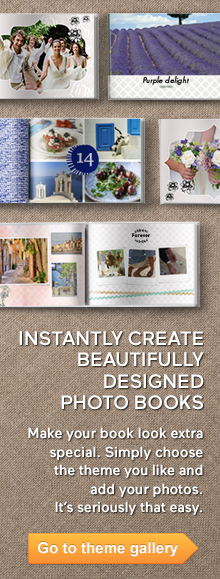 Check out pre-designed photo books