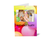 Albelli inspiration birthday party invitation
