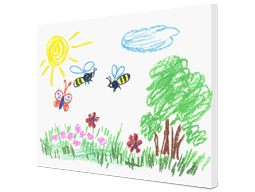 childrens drawings on canvas Albelli