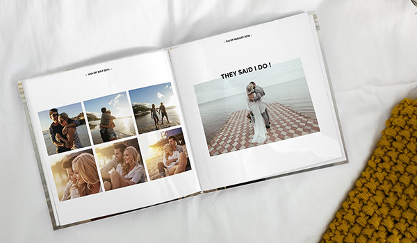 photo book with text